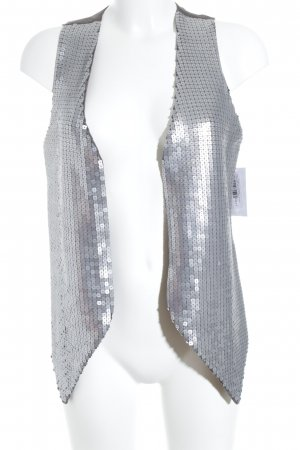 Saint Tropez Chaleco de vestir color plata-gris oscuro look casual