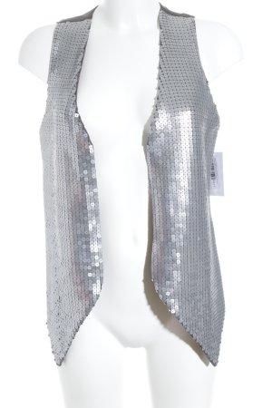 Saint Tropez Gilet argento-grigio scuro stile casual