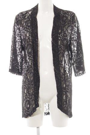 Saint Tropez Cardigan schwarz florales Muster Elegant