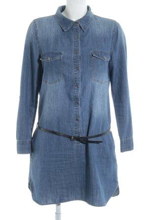 Saint Tropez Jeansbluse blau Jeans-Optik