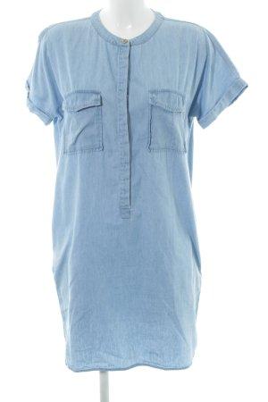 Saint Tropez Jeansbluse himmelblau Jeans-Optik