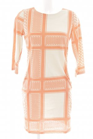 Saint Tropez Jerseykleid creme-orange Karomuster Casual-Look