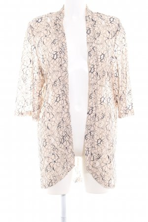 Saint Tropez Kimono cream-dark blue abstract pattern casual look