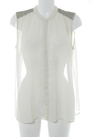 Saint Tropez Shirt met korte mouwen room-zilver elegant