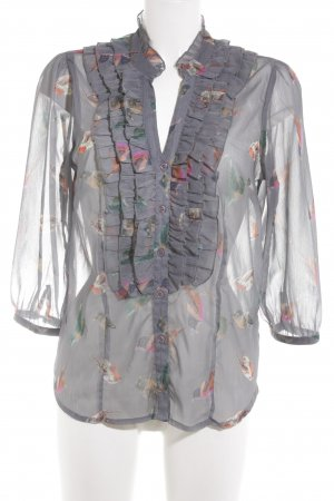 Saint Tropez Langarm-Bluse Motivdruck Casual-Look