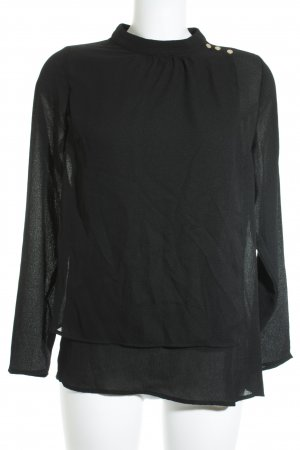Saint Tropez Langarm-Bluse schwarz Elegant
