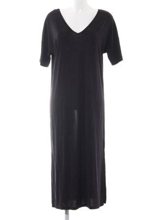 Saint Tropez Maxikleid schwarz schlichter Stil