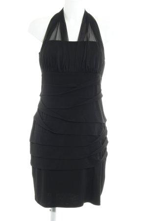 Saint Tropez Vestido de cuello Halter negro elegante