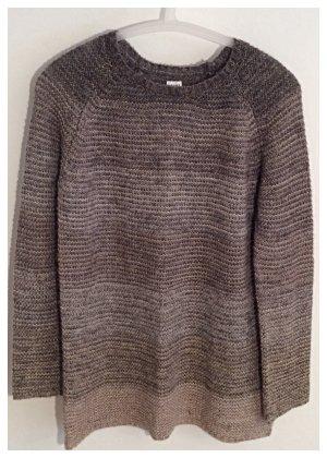 SAINT TROPEZ, Pullover, knit, classic, Braun/ Grau meliert mit Metallfäden