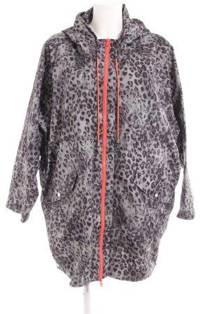 Saint Tropez Heavy Raincoat light grey-black leopard pattern casual look
