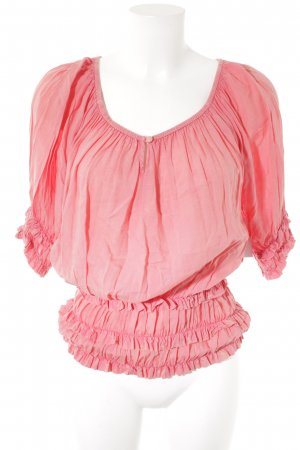 Saint Tropez Ruffled Blouse pink casual look