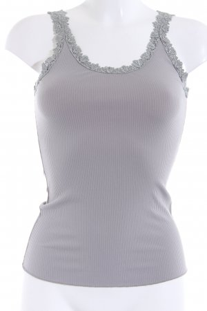 Saint Tropez Frill Top grey brown simple style