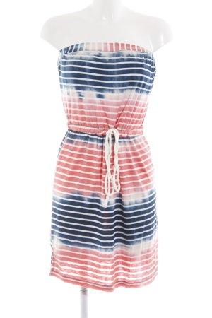 Saint Tropez schulterfreies Kleid abstraktes Muster Washed-Optik
