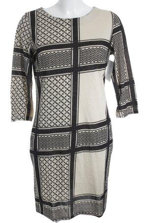 Saint Tropez Shirtkleid creme-schwarz Mustermix extravaganter Stil