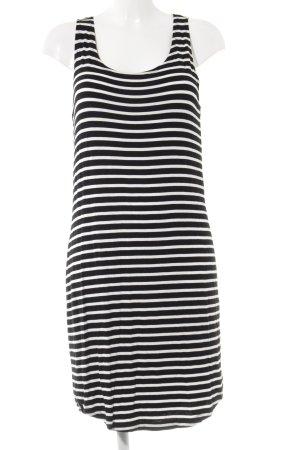 Saint Tropez Shirtkleid schwarz-weiß Streifenmuster Casual-Look