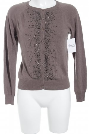 Saint Tropez Strickjacke hellbraun Casual-Look