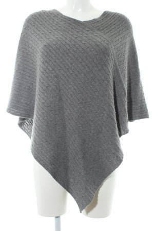 Saint Tropez Strickponcho grau College-Look