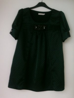 Saint Tropez Glanzende blouse bos Groen-zwart