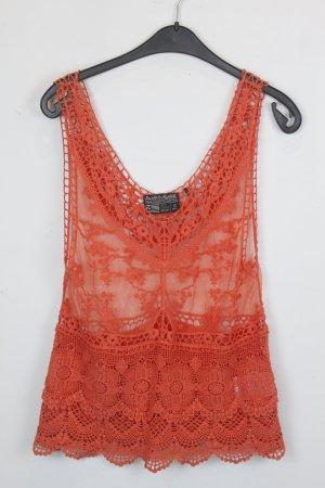 Crochet Top salmon cotton