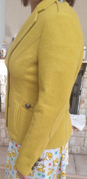 Alba Moda Veste en laine jaune