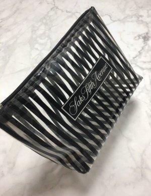 Saks Fifth Avenue Kulturtasche Makeup schwarz transparent