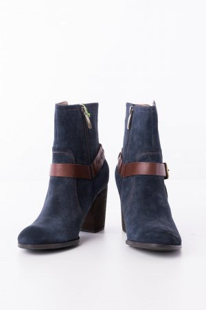 Salamander Booties dark blue-brown leather