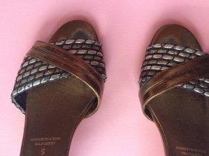 Salamander Leather Vintage Heels Sandals