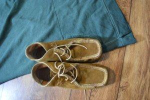 Salamander Schuh Leder/Wildleder Gr. 39 camel
