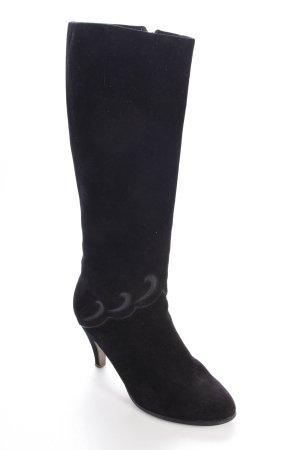 Salamander vintage boots black suede optics
