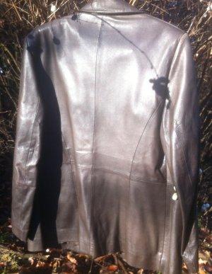 Lalique Paris Leather Blazer dark brown-black brown leather