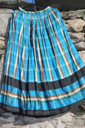 Traditional Skirt multicolored silk