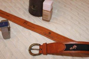 Cinturón de cuero bermejo-negro