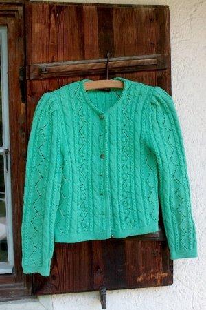 Chaqueta folclórica turquesa lana de esquila