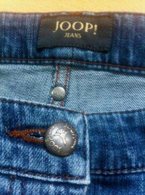 Joop! Jeans Spijker flares staalblauw Katoen