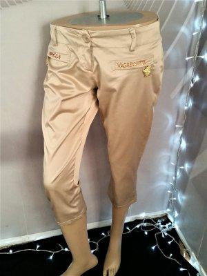 Pantalon capri doré-chameau