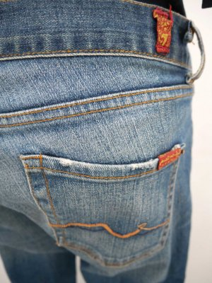 """SALE! """"7 for all mankind"""" 29: Bootcut-Jeans in mittelblauer Waschung"""