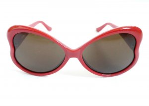 %SALE 70% Brand Moschino Sunglasses Heart Shape Red