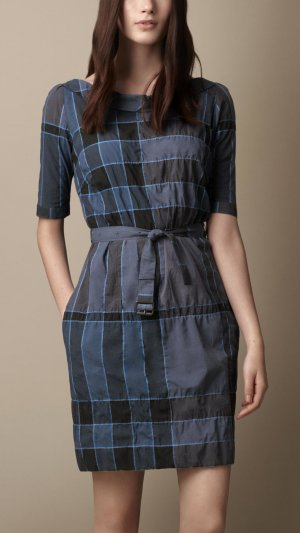 %SALE 70% Burberry Blue Summer Light dress NEU