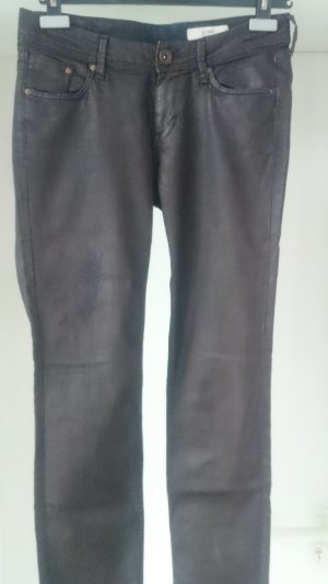H&M Leather Trousers multicolored cotton