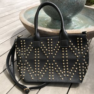 Bijou Brigitte Shopper black-gold-colored polyurethane