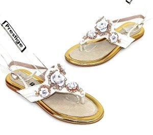 Sandalo toe-post multicolore Finta pelle