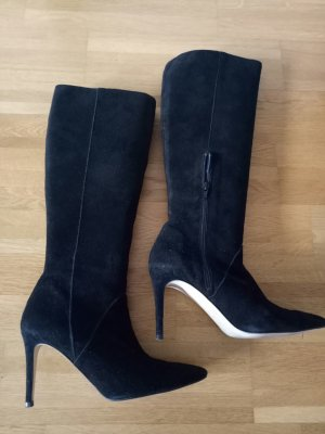 High Heel Boots black leather