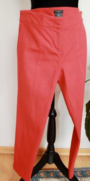 Ann Taylor Pantalon 3/4 rouge coton
