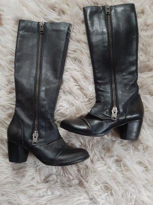 Asos Heel Boots black brown leather