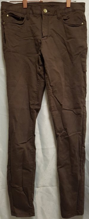 Yessica Five-Pocket Trousers brown mixture fibre