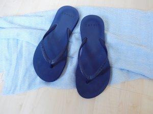 Esprit Toe-Post sandals dark blue synthetic material