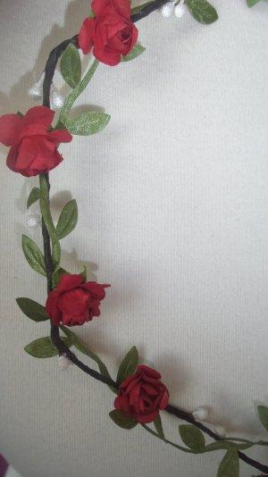 SALE!!!  Blumenkranz mit roten Blüten Hochzeit Festival