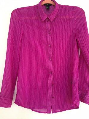 H&M Blusa transparente violeta
