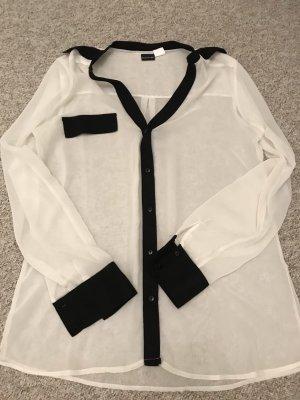 b.p.c. Bonprix Collection Long Sleeve Blouse white-black