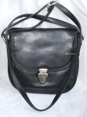 %%% SALE %%% Bodenschatz Leder Handtasche schwarz